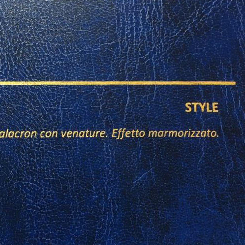 COVER STYLE BLU: copertine rivestite in balacron marmorizzato con finitura in similpelle con venature
