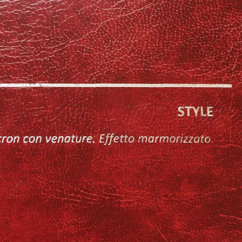 COVER STYLE BORDO: copertine rivestite in balacron marmorizzato con finitura in similpelle con venature