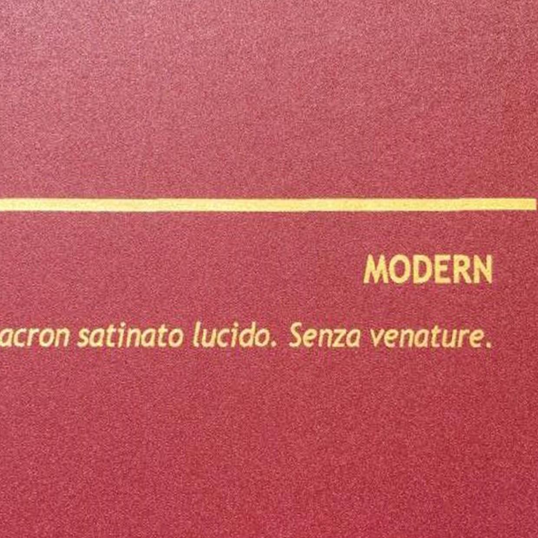 COVER MODERN ROSSO: copertine rivestite in balacron satinato lucido.